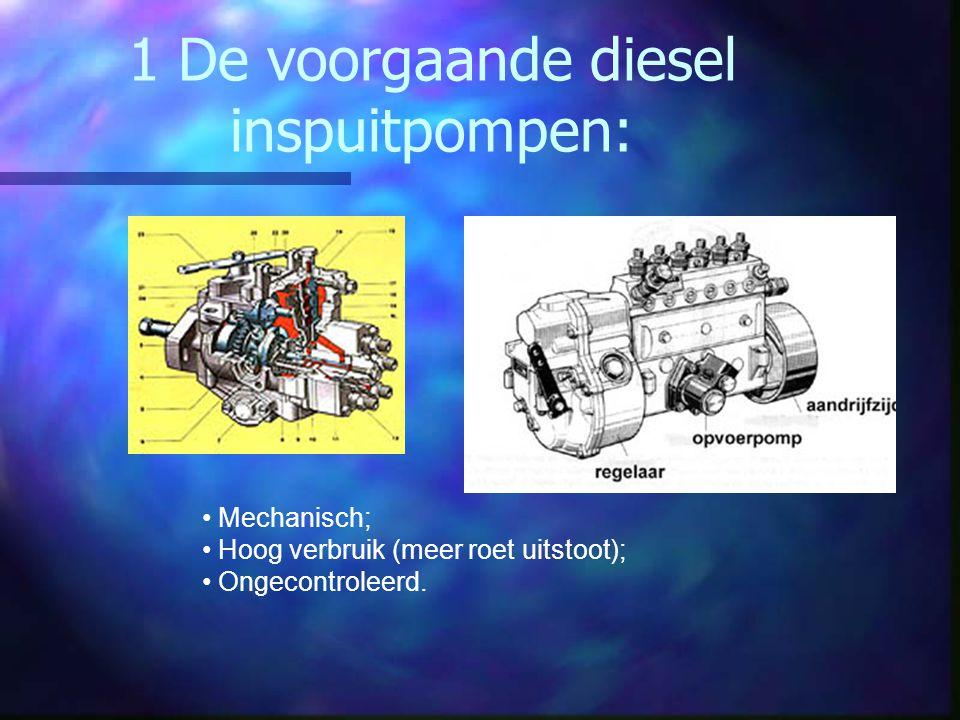 1 De voorgaande diesel inspuitpompen: