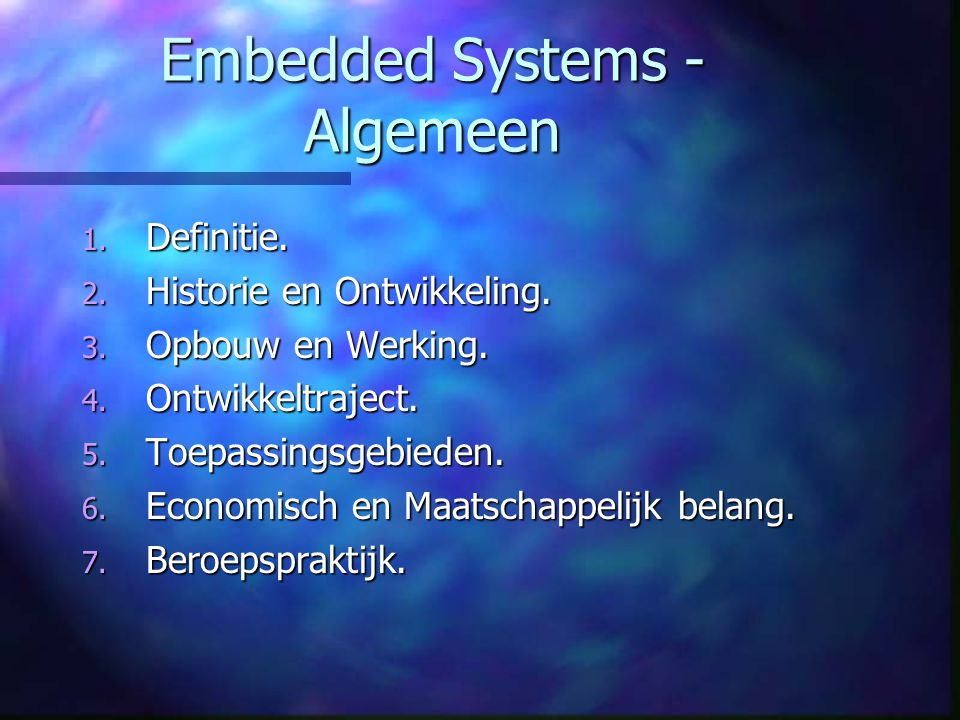 Embedded Systems - Algemeen