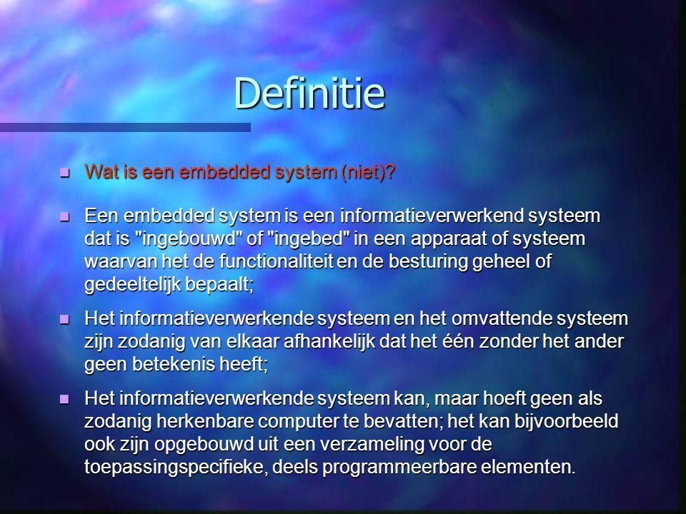 Definitie Wat is een embedded system (niet)