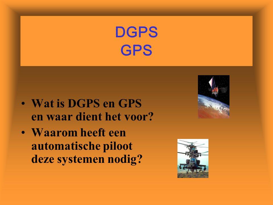 DGPS GPS Wat is DGPS en GPS en waar dient het voor