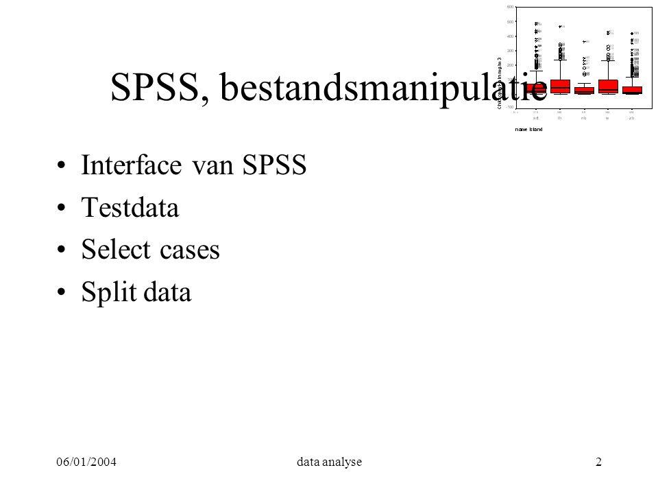 SPSS, bestandsmanipulatie