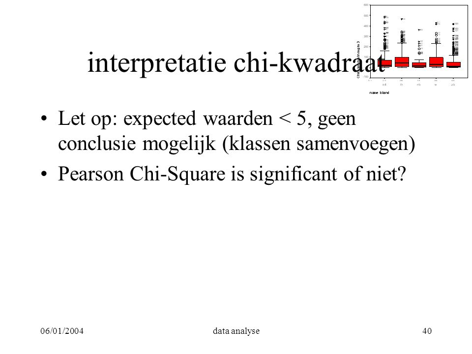 interpretatie chi-kwadraat