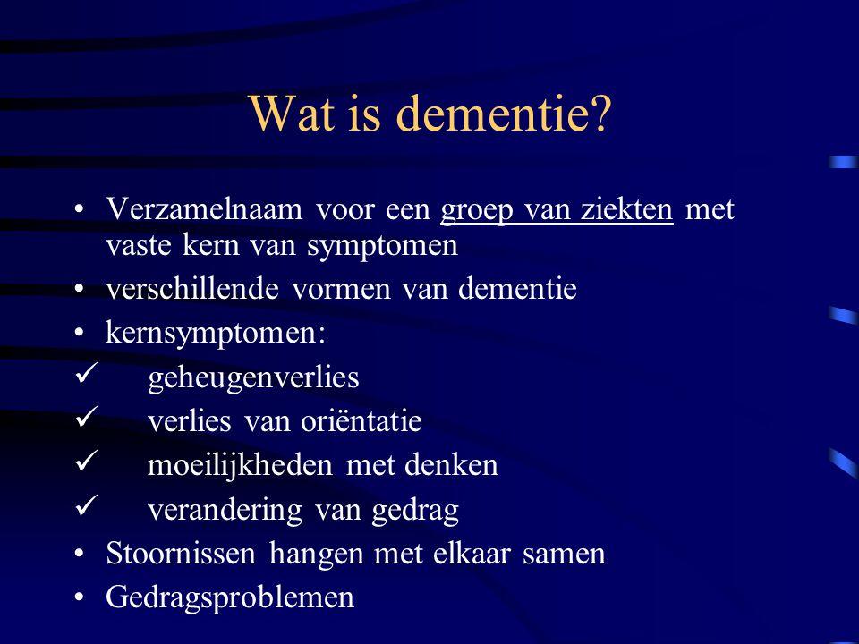 verlies en dementie