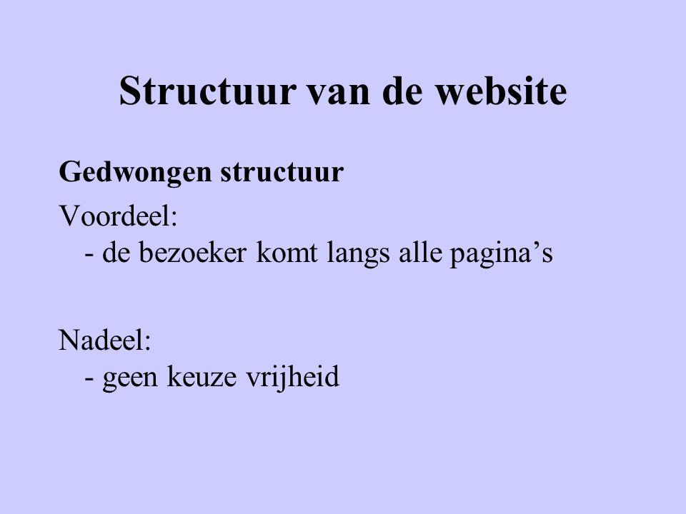 Structuur van de website