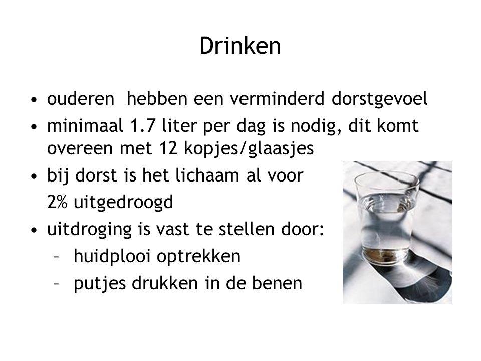 Drinken ouderen hebben een verminderd dorstgevoel