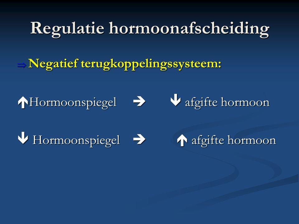 Regulatie hormoonafscheiding