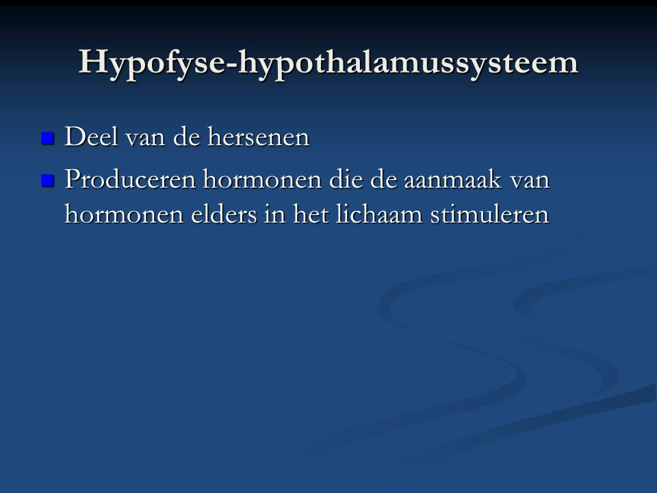 Hypofyse-hypothalamussysteem