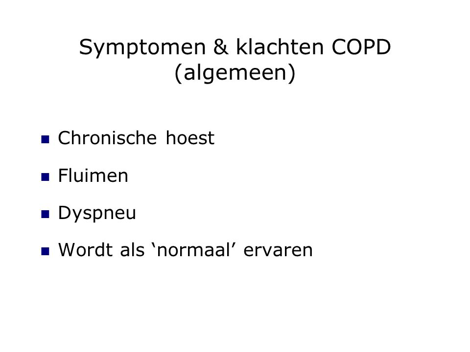 Symptomen & klachten COPD (algemeen)
