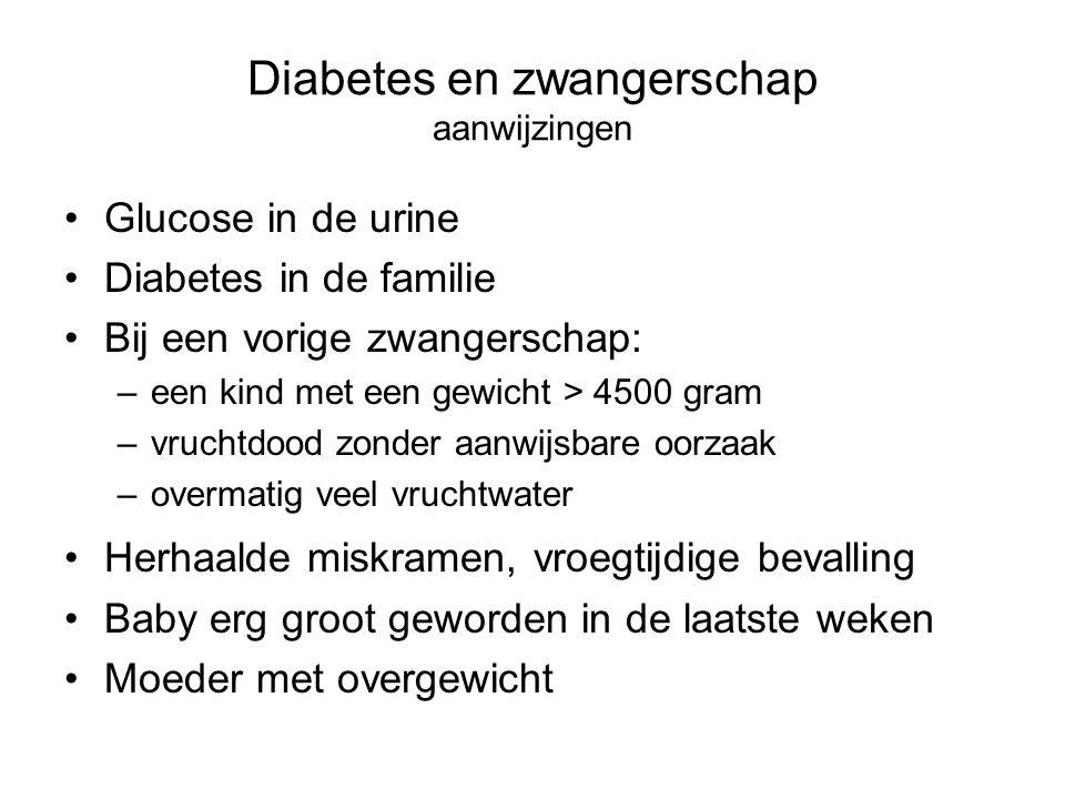 Diabetes en zwangerschap aanwijzingen