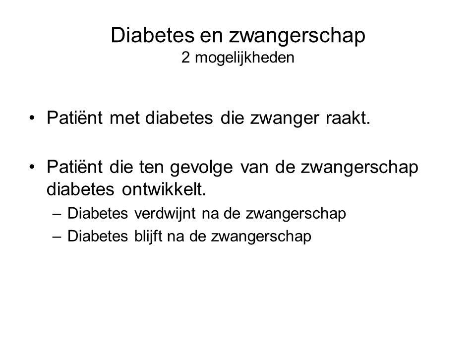 Diabetes en zwangerschap 2 mogelijkheden