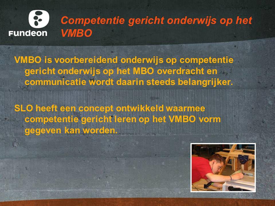 Competentie gericht onderwijs op het VMBO