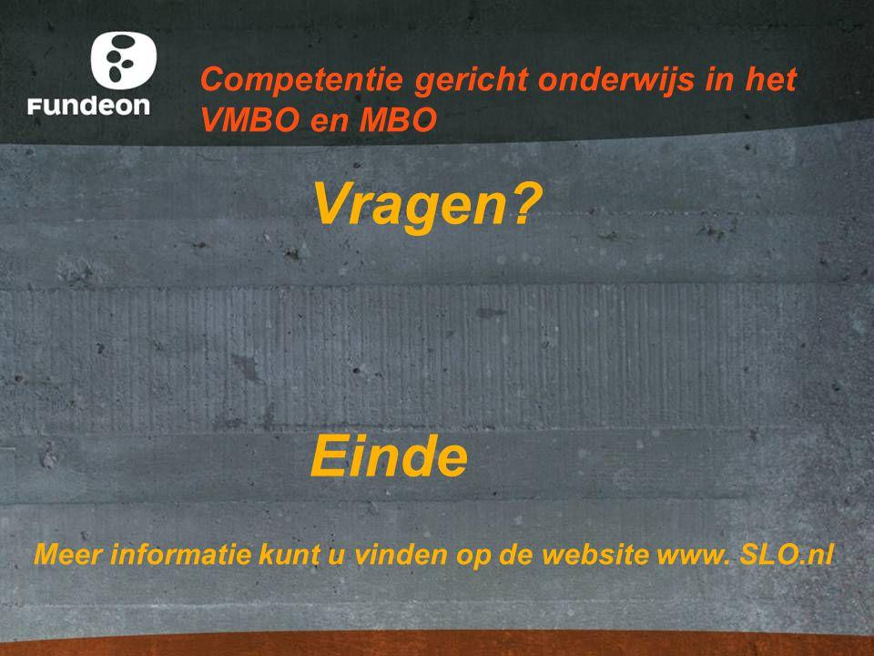 Competentie gericht onderwijs in het VMBO en MBO