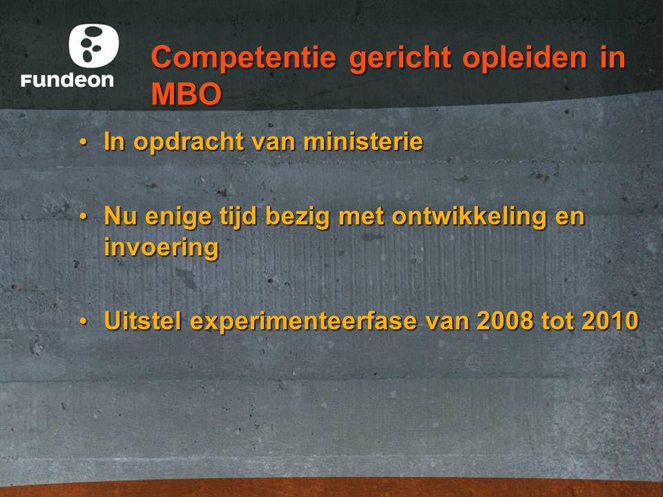 Competentie gericht opleiden in MBO