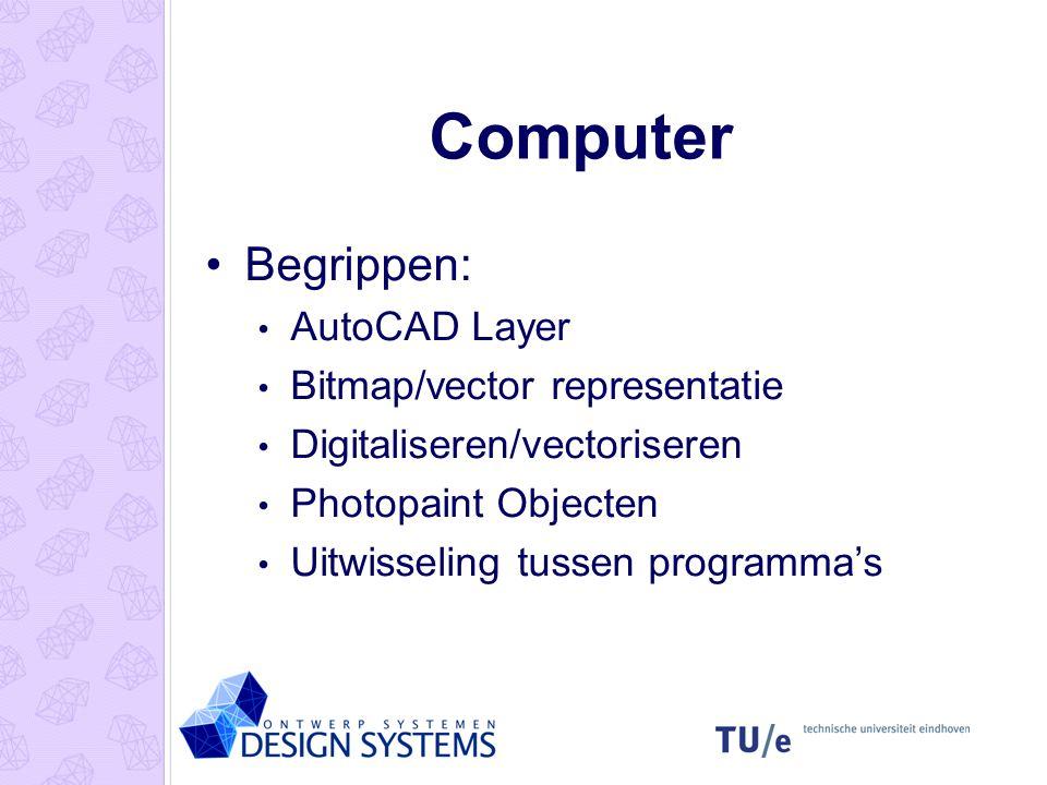Computer Begrippen: AutoCAD Layer Bitmap/vector representatie
