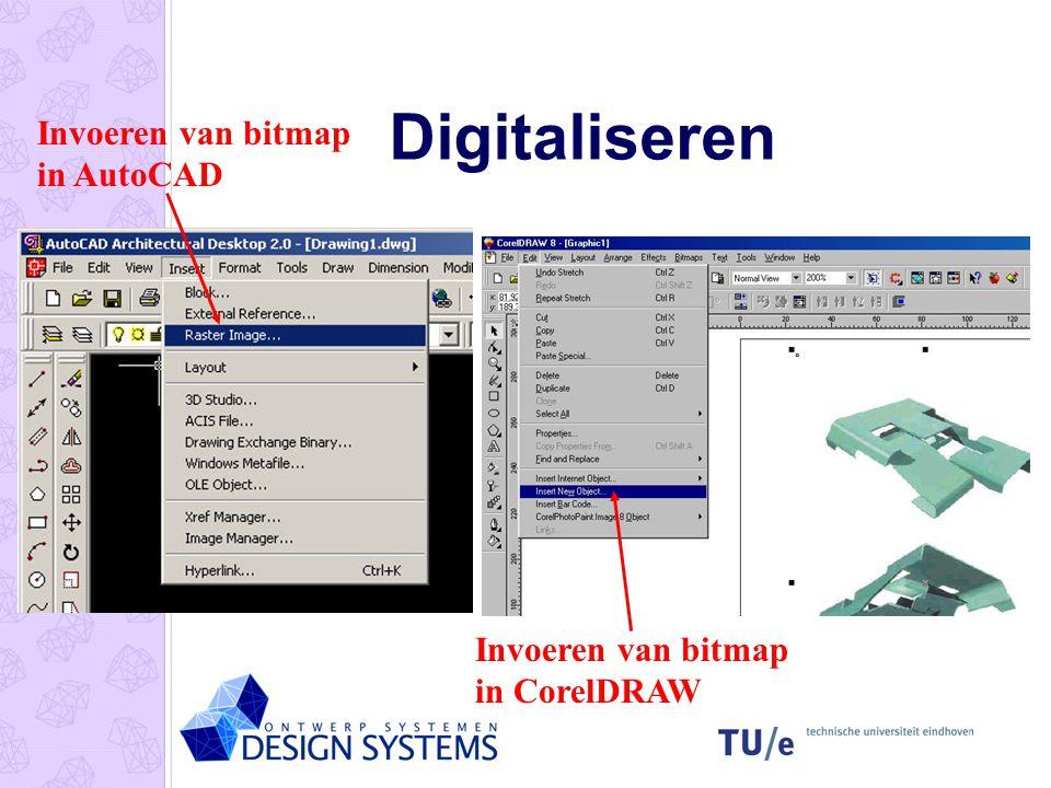 Digitaliseren Invoeren van bitmap in AutoCAD