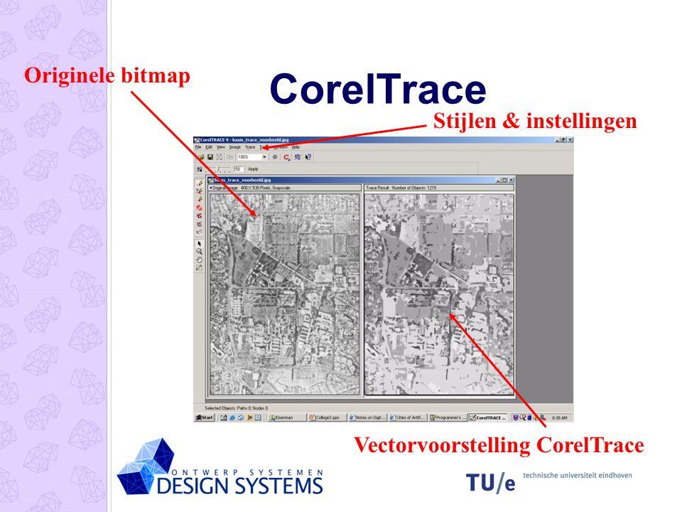 CorelTrace Originele bitmap Stijlen & instellingen