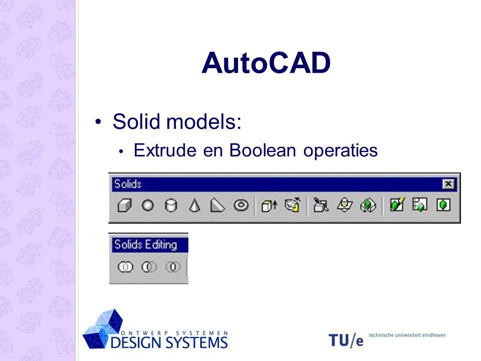 AutoCAD Solid models: Extrude en Boolean operaties