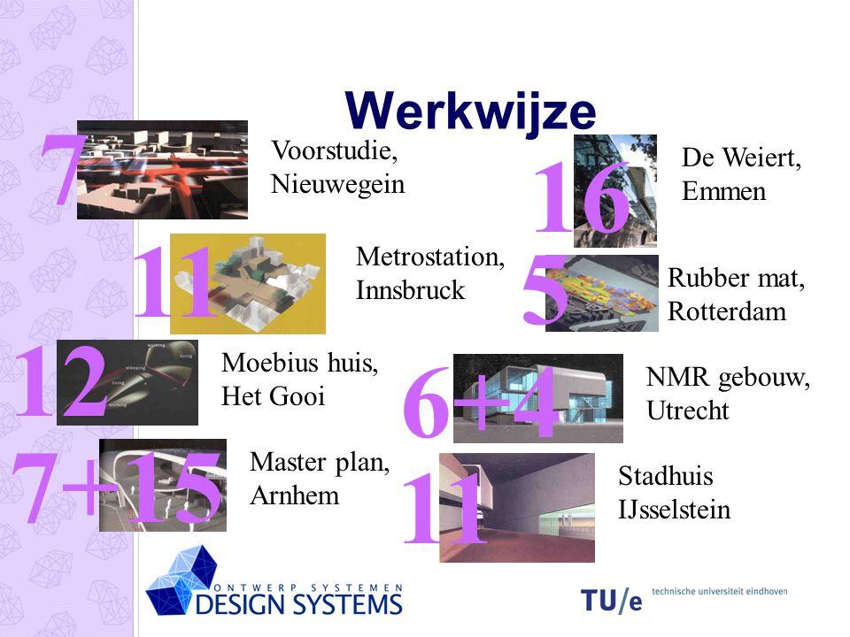 7 16 11 5 12 6+4 7+15 11 Werkwijze Voorstudie, Nieuwegein
