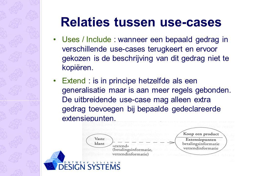 Relaties tussen use-cases