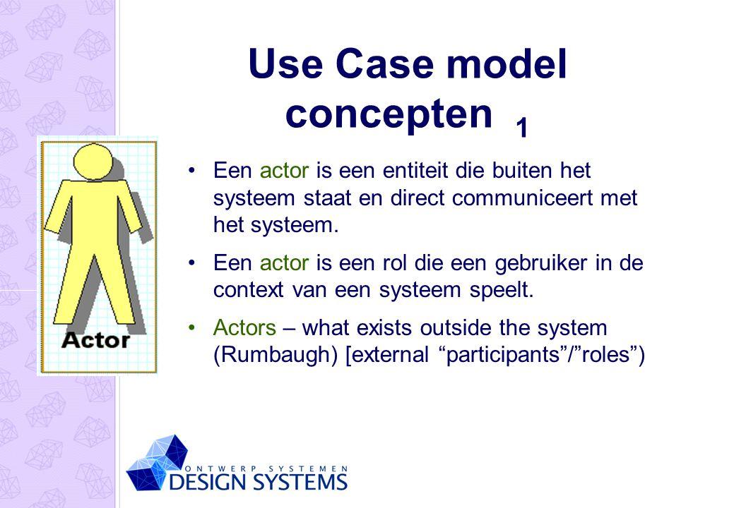 Use Case model concepten 1
