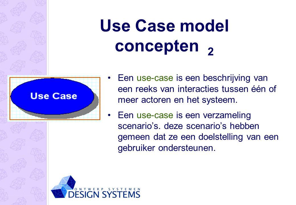 Use Case model concepten 2