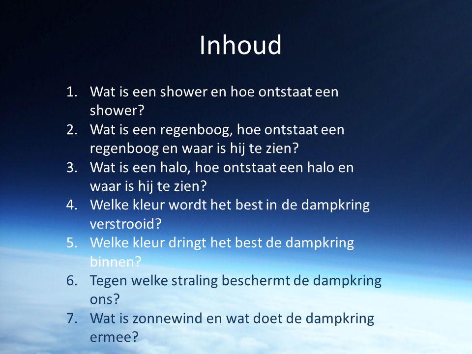 Inhoud Wat is een shower en hoe ontstaat een shower