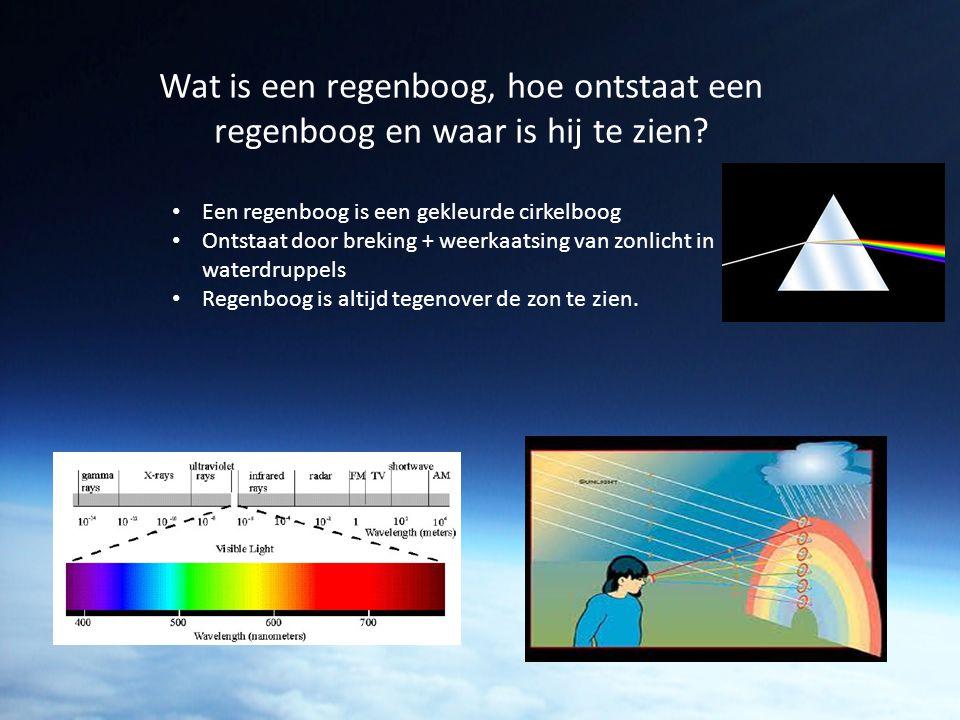 Wat is een regenboog, hoe ontstaat een regenboog en waar is hij te zien