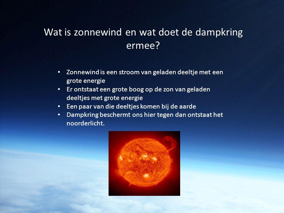 Wat is zonnewind en wat doet de dampkring ermee