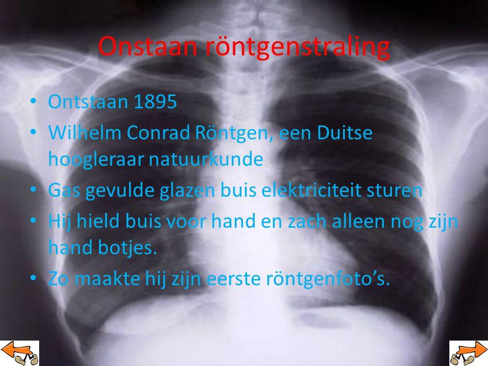 Onstaan röntgenstraling