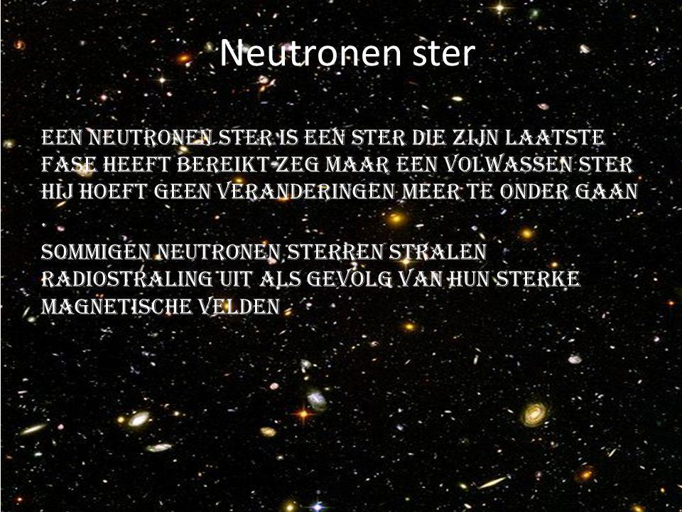 Neutronen ster