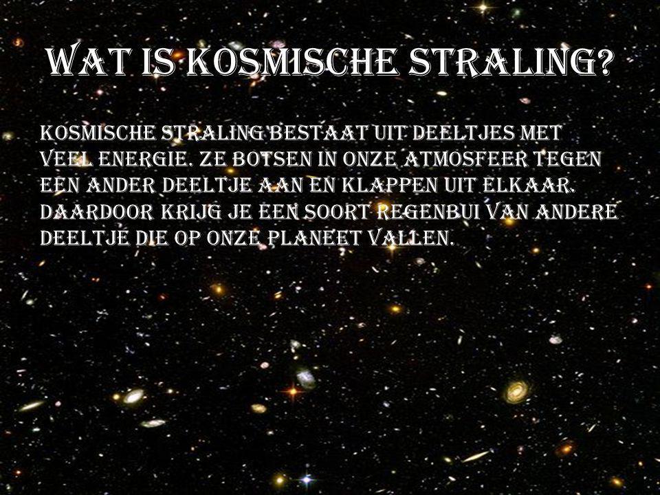 Wat is kosmische straling