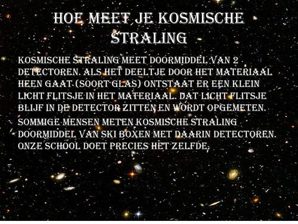 Hoe meet je kosmische straling