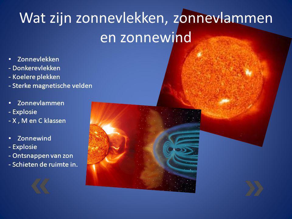 Wat zijn zonnevlekken, zonnevlammen en zonnewind