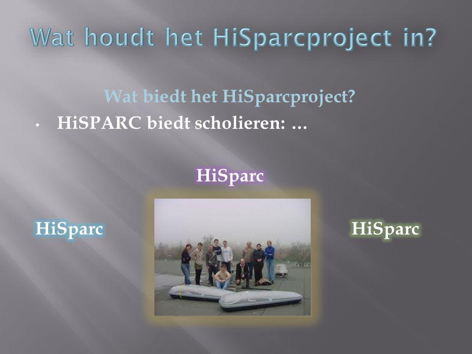 Wat houdt het HiSparcproject in