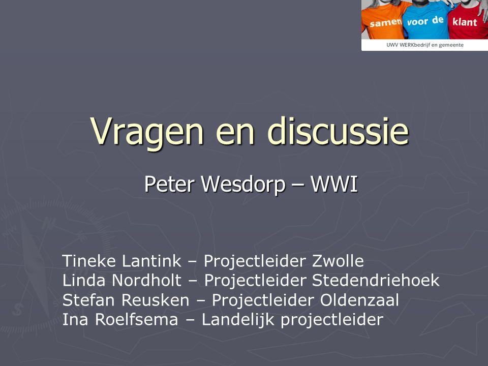 Vragen en discussie Peter Wesdorp – WWI