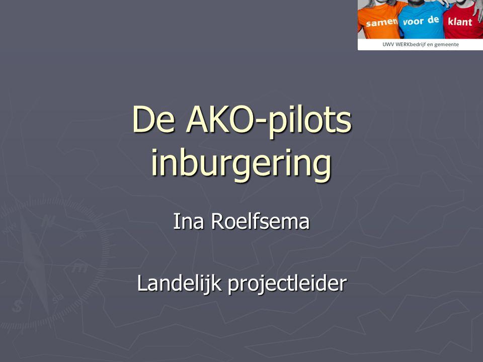 De AKO-pilots inburgering