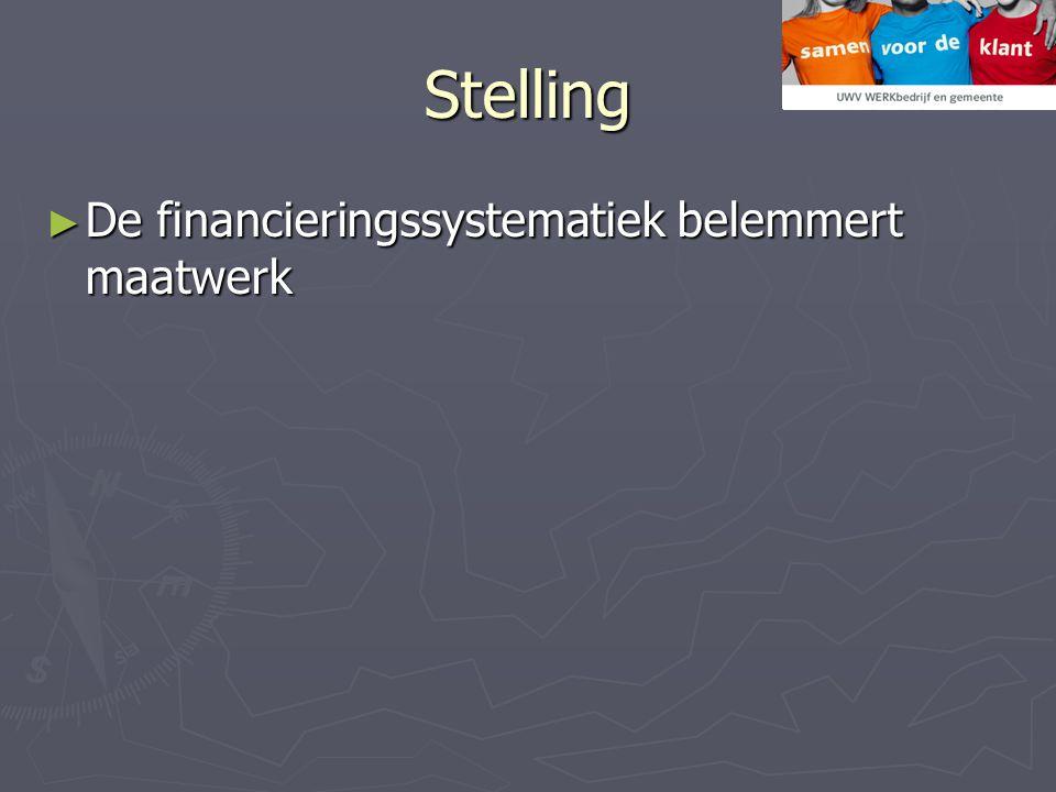 Stelling De financieringssystematiek belemmert maatwerk
