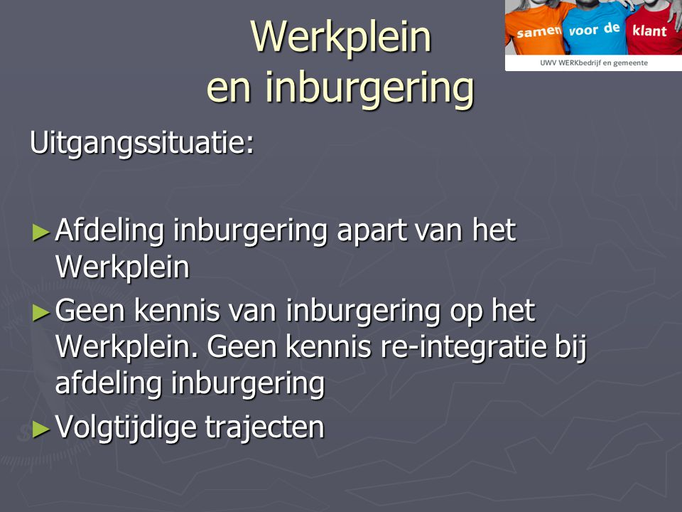 Werkplein en inburgering