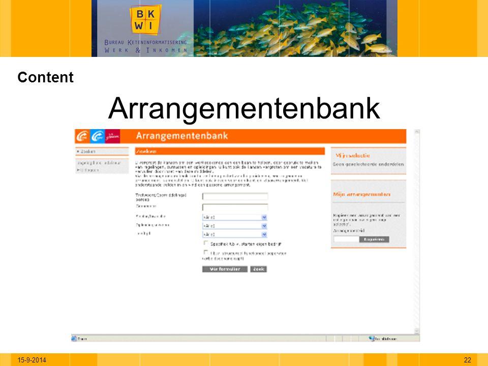 Content Arrangementenbank