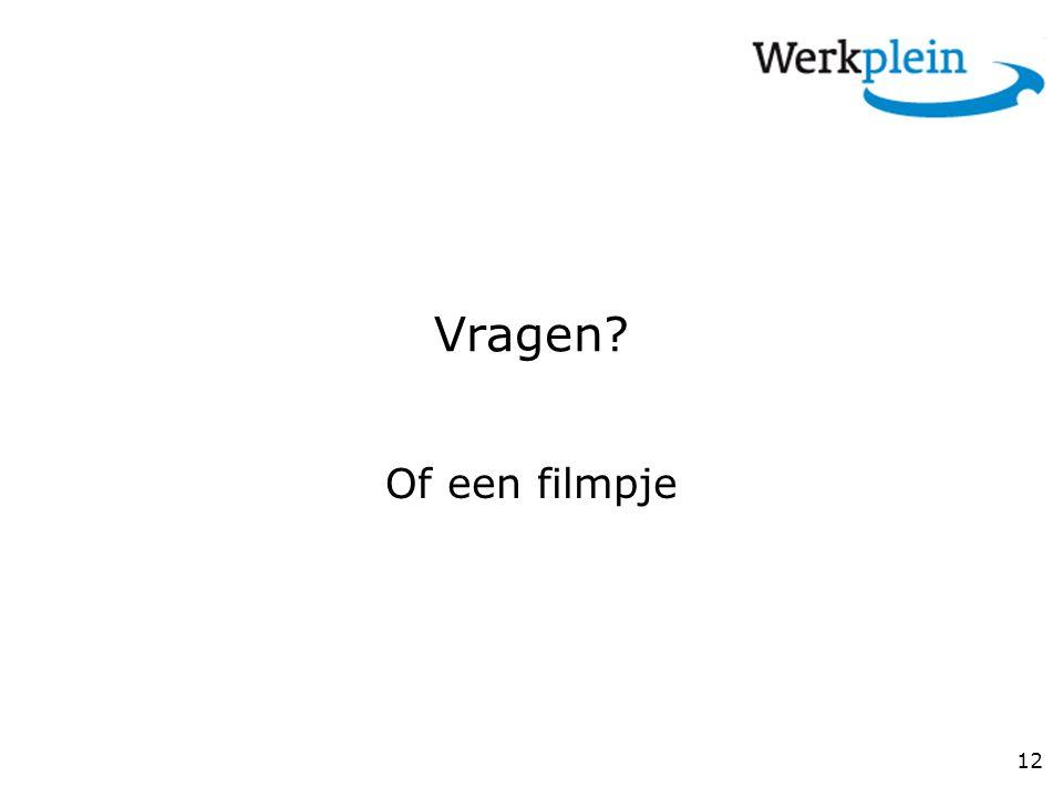 Vragen Of een filmpje
