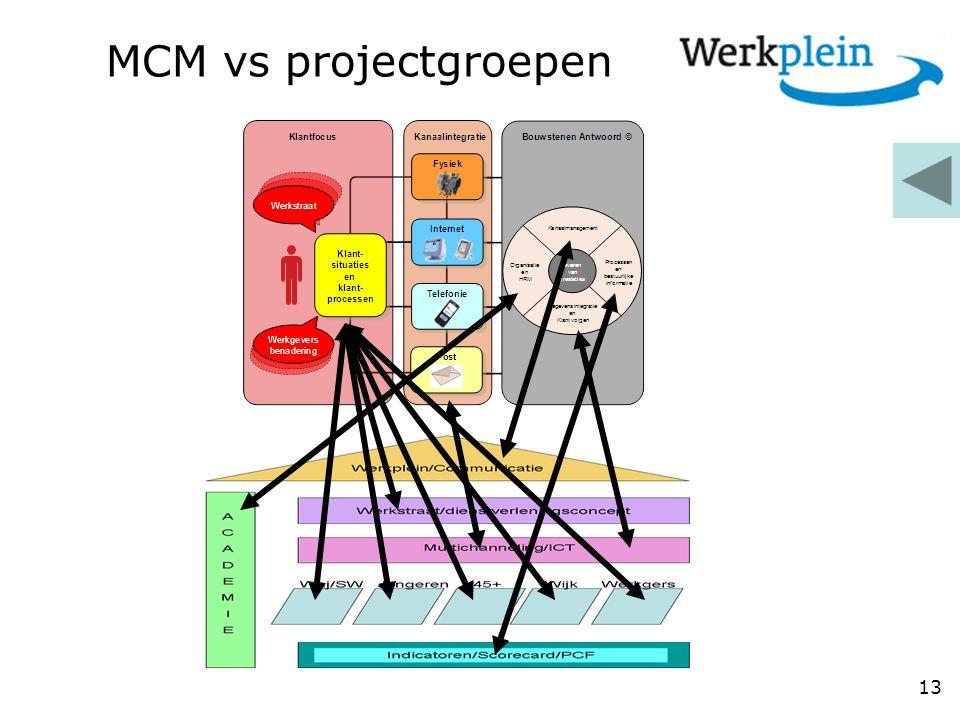MCM vs projectgroepen