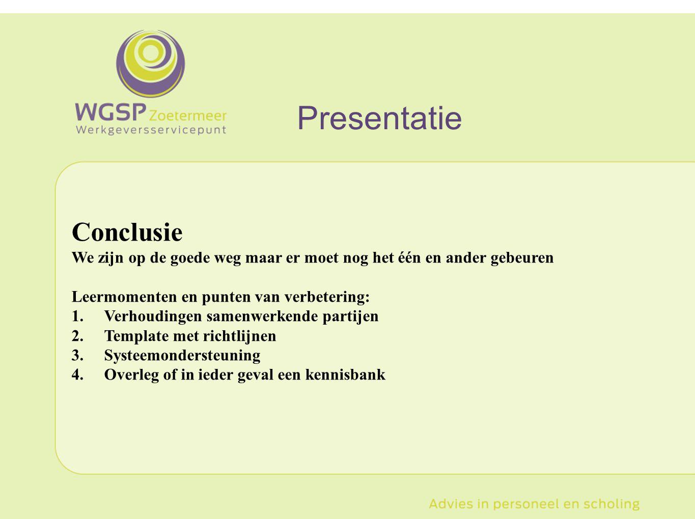 Presentatie Conclusie