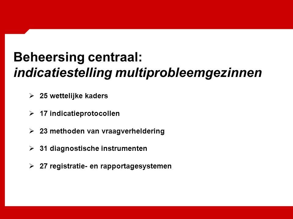 Beheersing centraal: indicatiestelling multiprobleemgezinnen