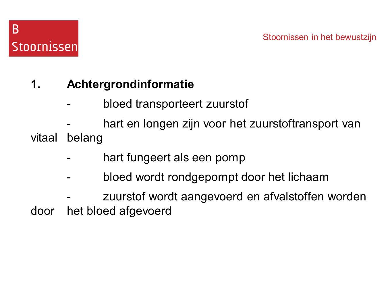 1. Achtergrondinformatie - bloed transporteert zuurstof
