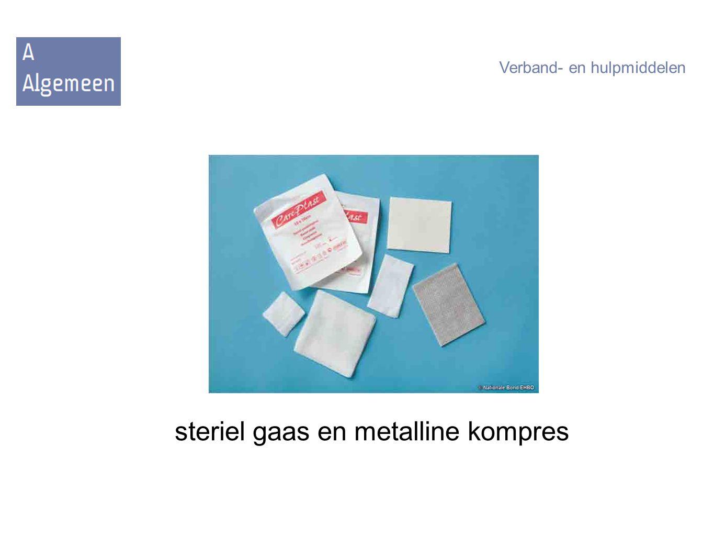 steriel gaas en metalline kompres
