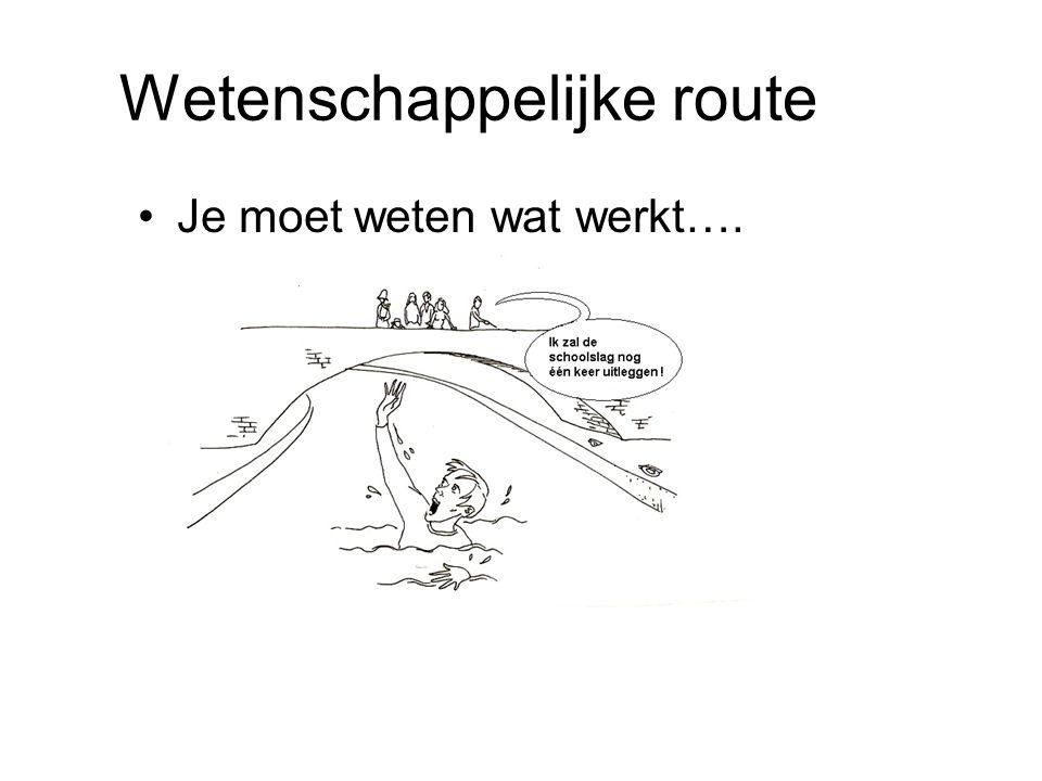 Wetenschappelijke route