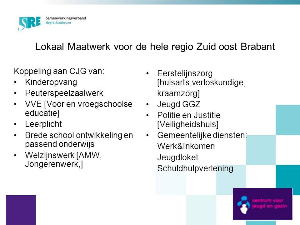 Lokaal Maatwerk voor de hele regio Zuid oost Brabant