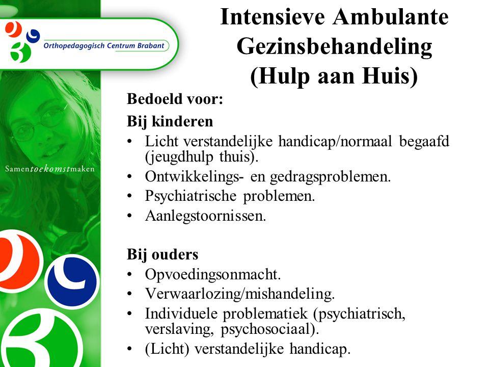 Intensieve Ambulante Gezinsbehandeling (Hulp aan Huis)