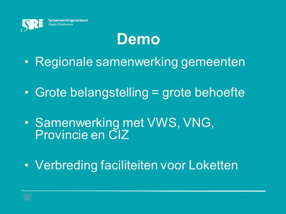 Demo Regionale samenwerking gemeenten