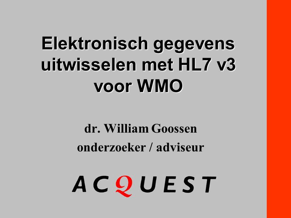 Elektronisch gegevens uitwisselen met HL7 v3 voor WMO